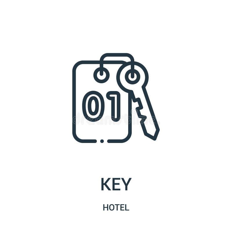vector dominante del icono de la colección del hotel L?nea fina ejemplo del vector del icono del esquema de la llave ilustración del vector