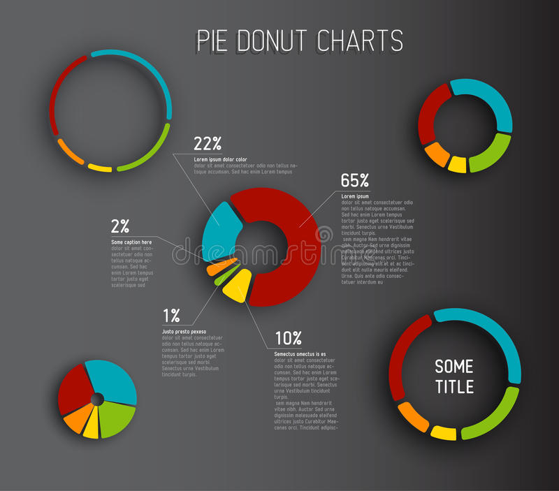 Vector Donut Pie Chart Templates Vector Image 41411621 – Pie Chart Templates