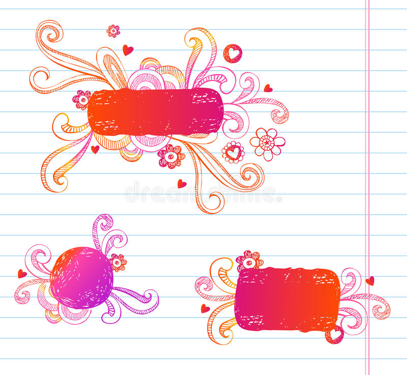 Vector Doodle Frames Royalty Free Stock Photography
