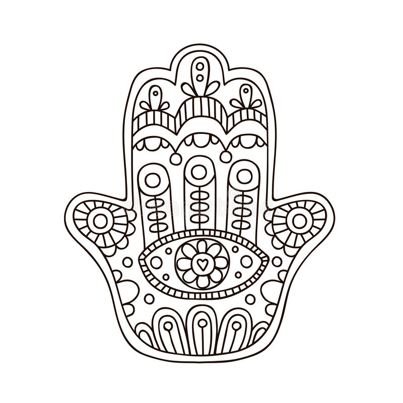 Vector doodle hamsa royalty free stock images