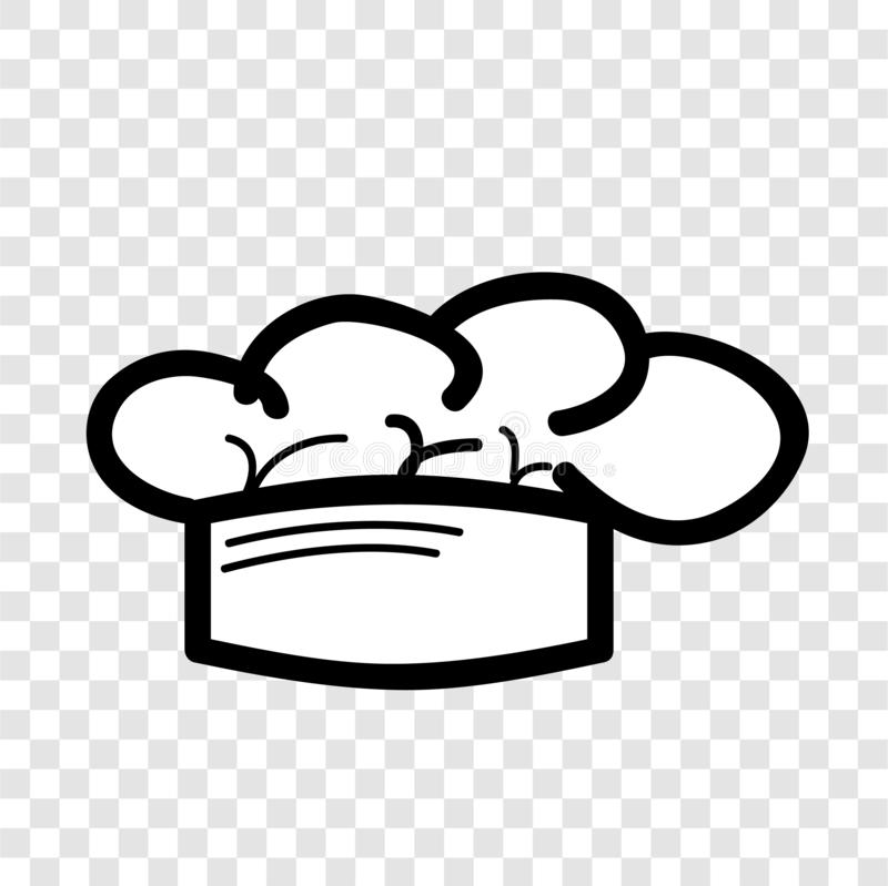 Simple Vector doodle Icon style, chef hat at transparent effect background. Vector doodle Icon style, chef hat at transparent effect background stock illustration