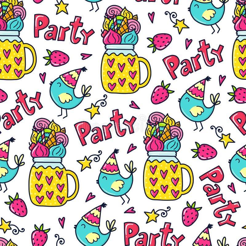 Vector doodles pattern royalty free illustration