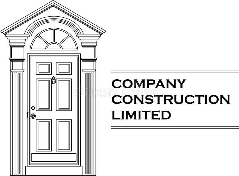 Vector door icon company logo. (white version