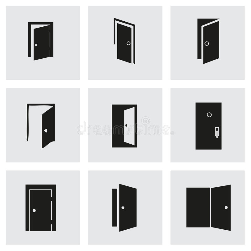 Download Vector Door Icon Set Stock Vector - Image 53018877  sc 1 st  Dreamstime.com & Vector Door Icon Set Stock Vector - Image: 53018877 pezcame.com