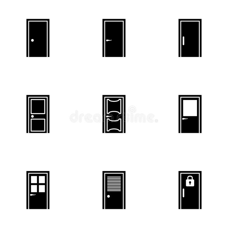 Download Vector door icon set stock vector. Illustration of frame - 53002044  sc 1 st  Dreamstime.com & Vector door icon set stock vector. Illustration of frame - 53002044