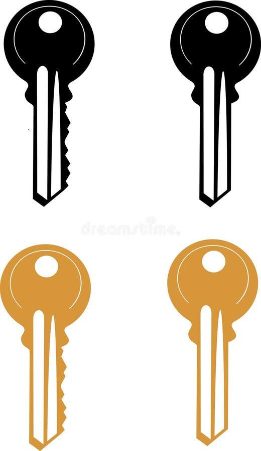Vector Door Key royalty free stock photography
