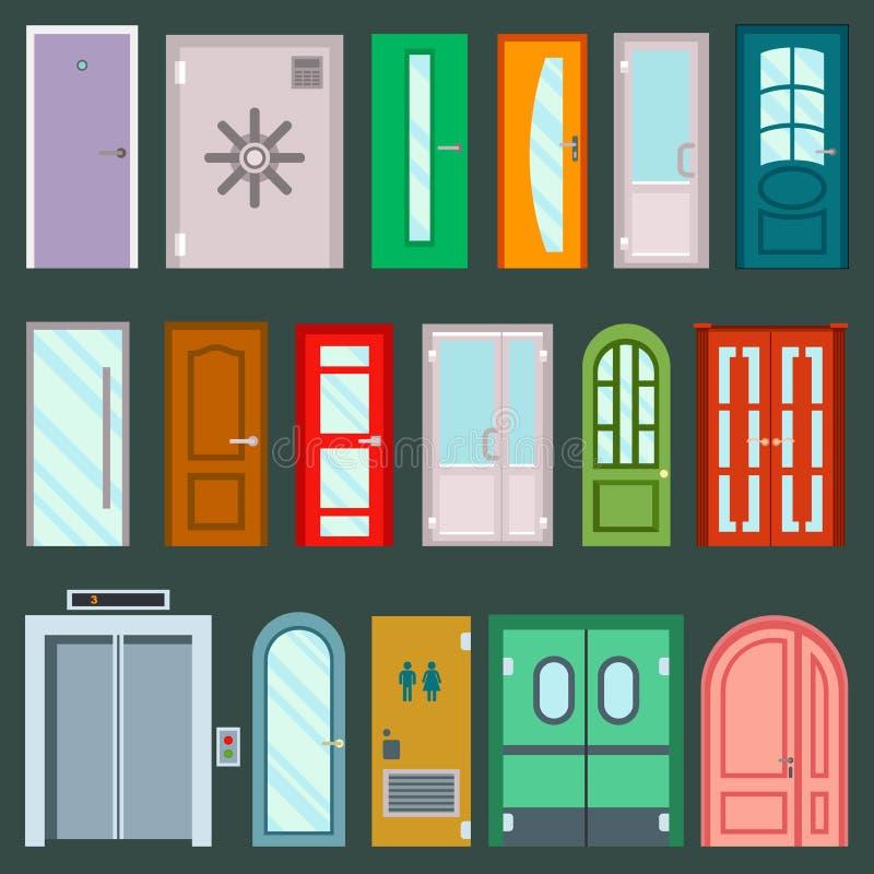 Vector Doors Design Furniture Elements Doorway Front Entrance To