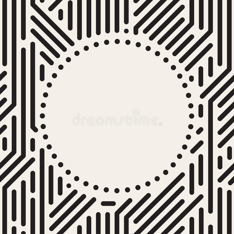 Vector dots circle frame in digital style. royalty free illustration