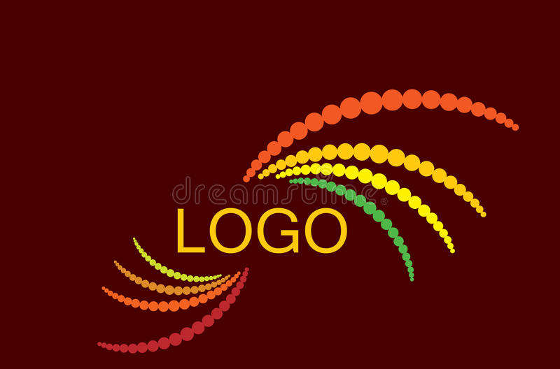 Vector dotted colorful logo royalty free illustration