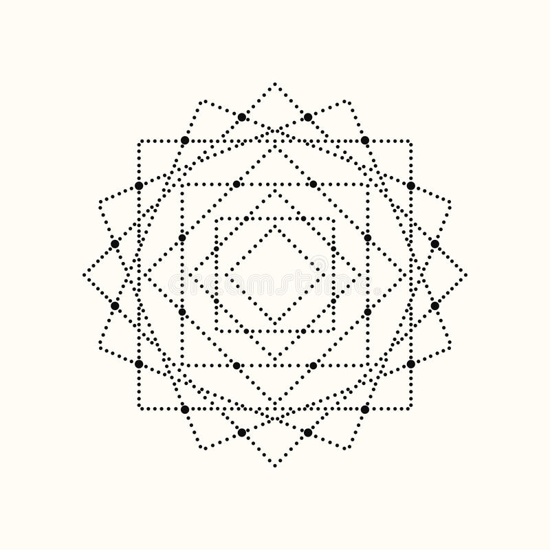 Vector dotted geometric shape. vector illustration