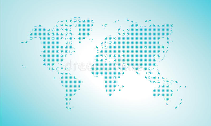 Vector dotted world map. Vector illustration template for website design, annual reports, infographics, business presentations, printed material, travel and royalty free illustration