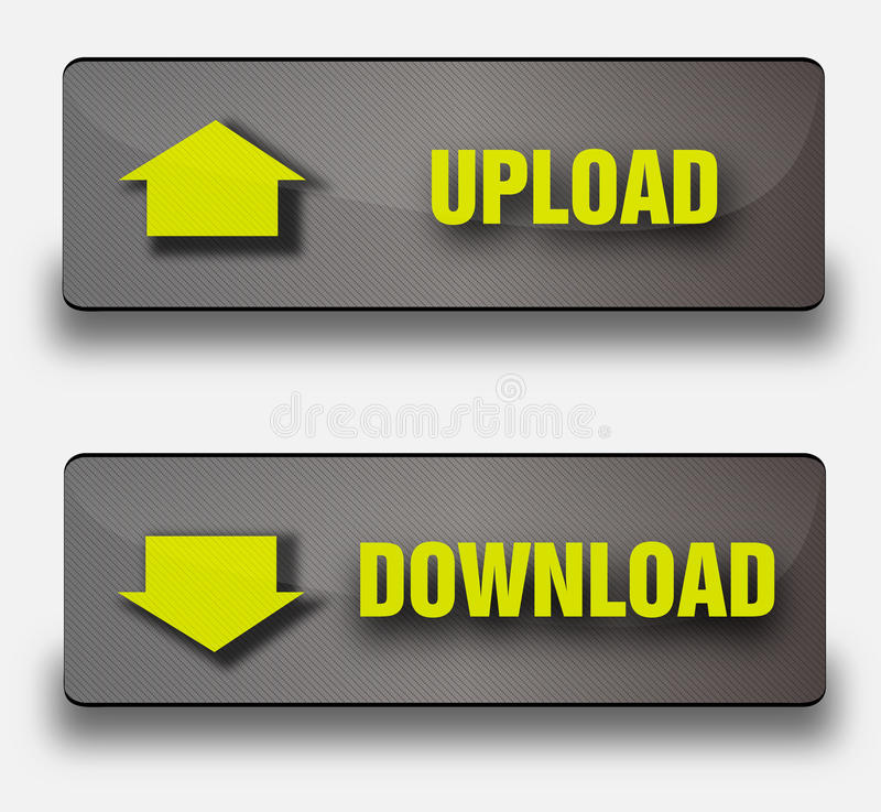 Vector download buttons royalty free stock photo