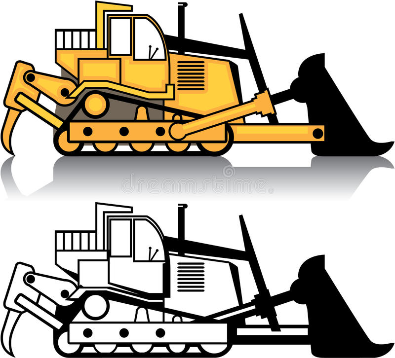 vector dozer stock vector illustration of diesel clip 49276794 rh dreamstime com caterpillar dozer clipart Dozer Logo