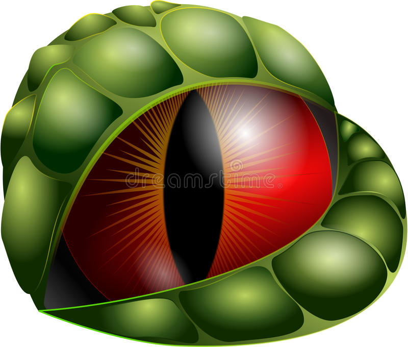 Vector dragon eye stock illustration