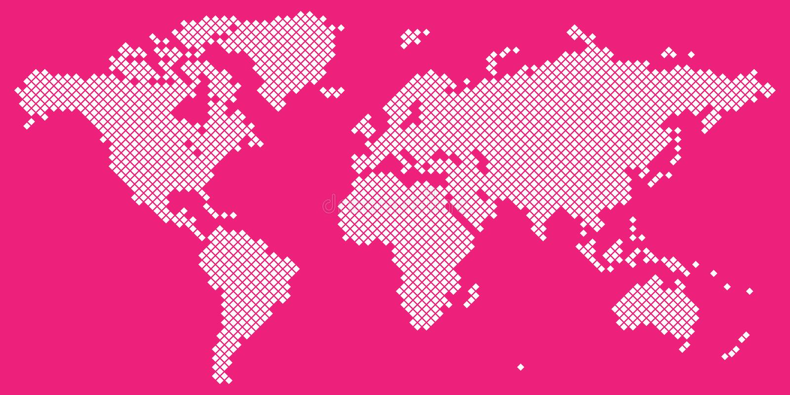Big tetragon world map vector white on magenta stock vector download big tetragon world map vector white on magenta stock vector illustration of background gumiabroncs Image collections