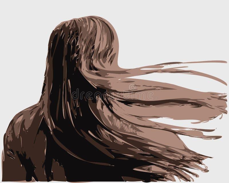 Vector drawing girls. royalty free illustration