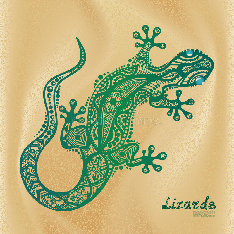 vector drawing of a lizard stock vector image 50567617. Black Bedroom Furniture Sets. Home Design Ideas