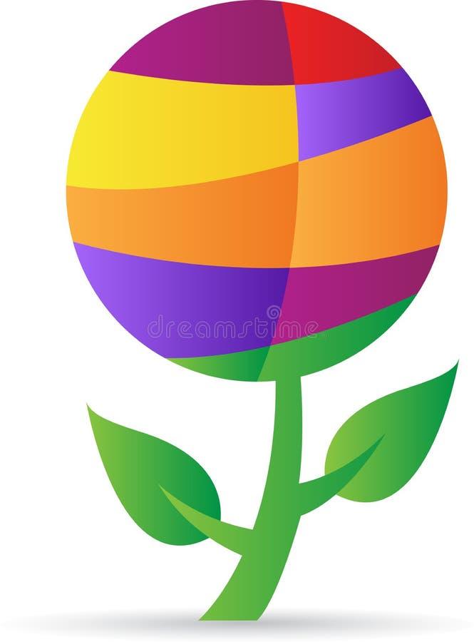 Abstract globe plant stock illustration
