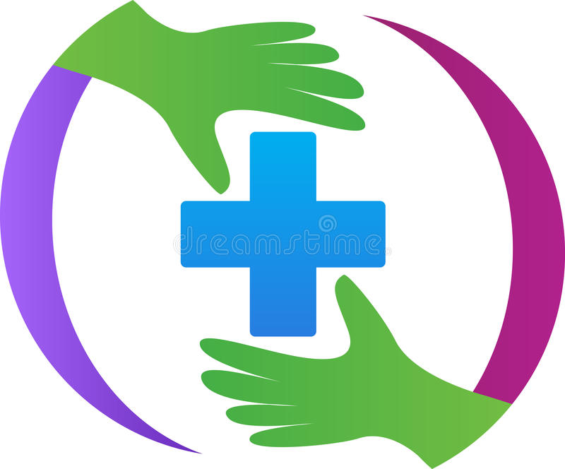 First aid sign. A vector drawing represents first aid sign design stock illustration