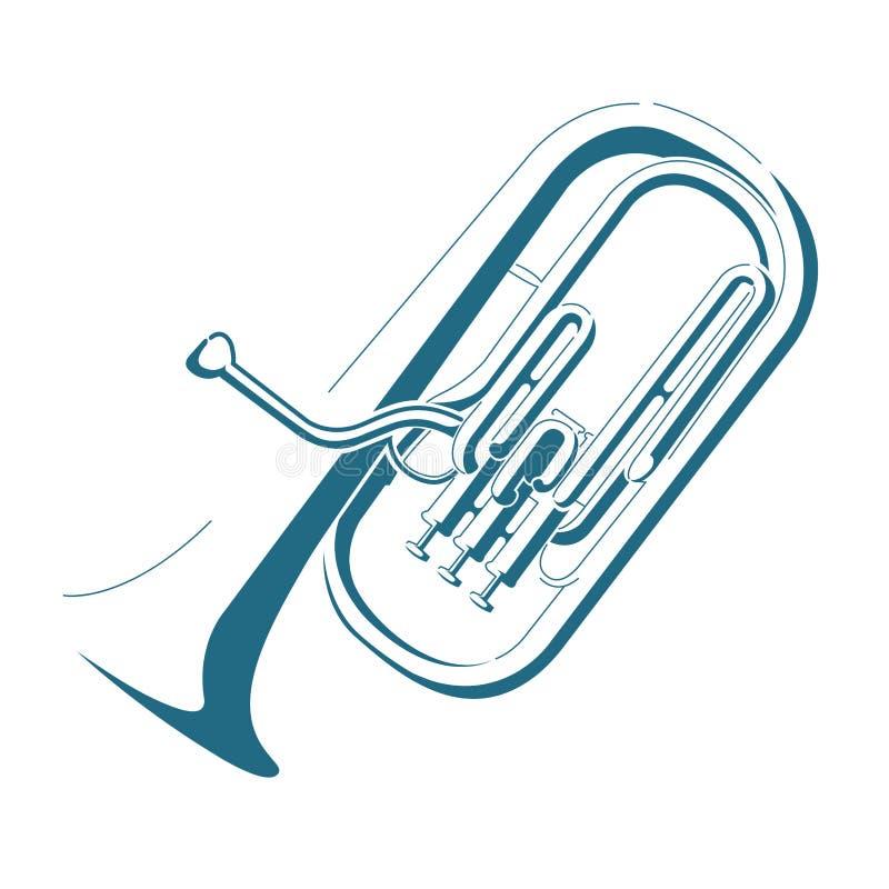 Vector drawn cornet. Isolated on white background stock illustration