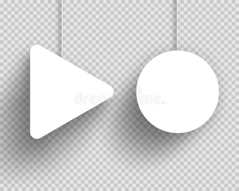 Vector Dreieck-Rahmen Des Kreis-3d Mit Transparenten Schatten Vektor ...