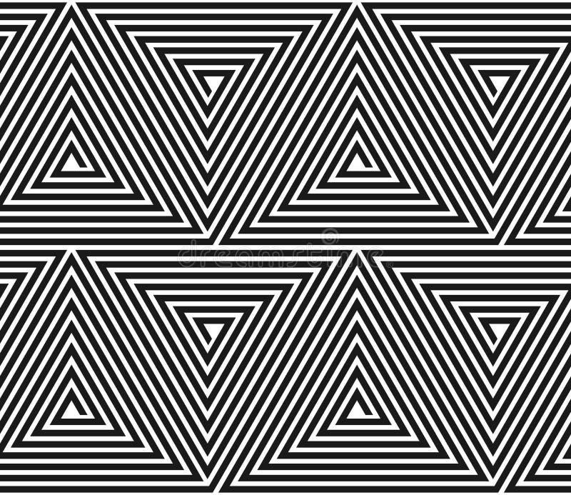 Vector driehoekig geometrisch patroon. royalty-vrije stock afbeelding