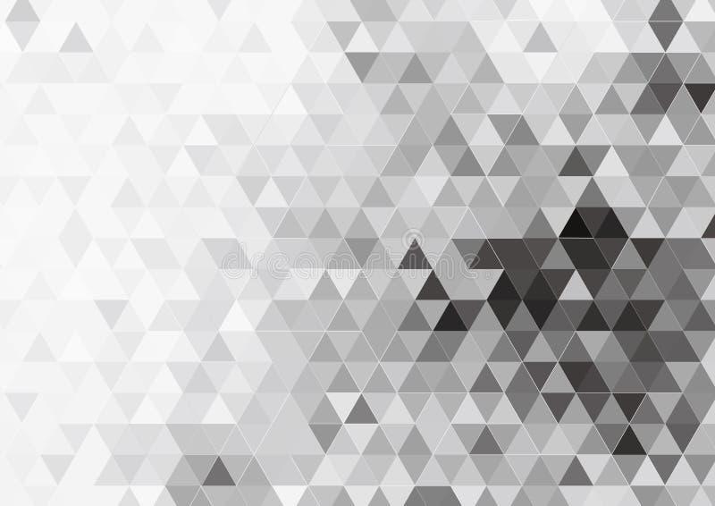 Vector Driehoekig Patroonontwerp Als achtergrond royalty-vrije stock afbeelding