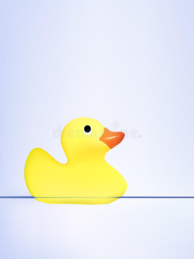 Download Vector Duck Swimming On Water Stock Vector - Illustration of alone, surface: 9652452