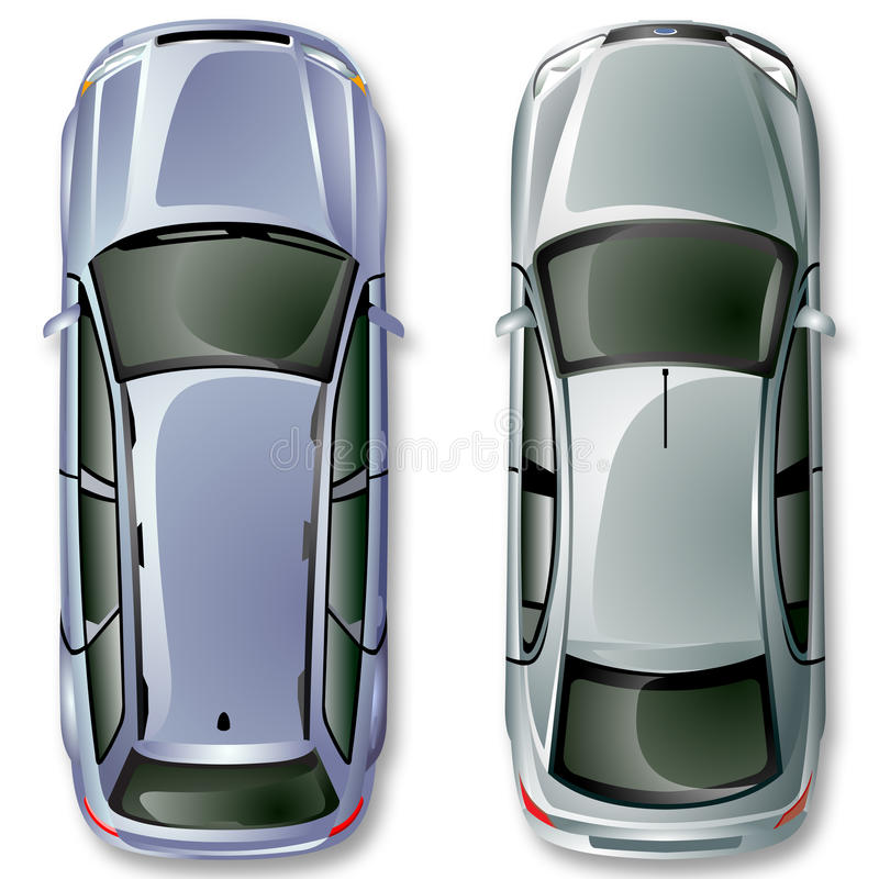 Vector Duitse auto's. royalty-vrije illustratie