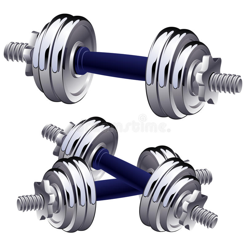 Free Vector Dumbbells. Royalty Free Stock Image - 10044916