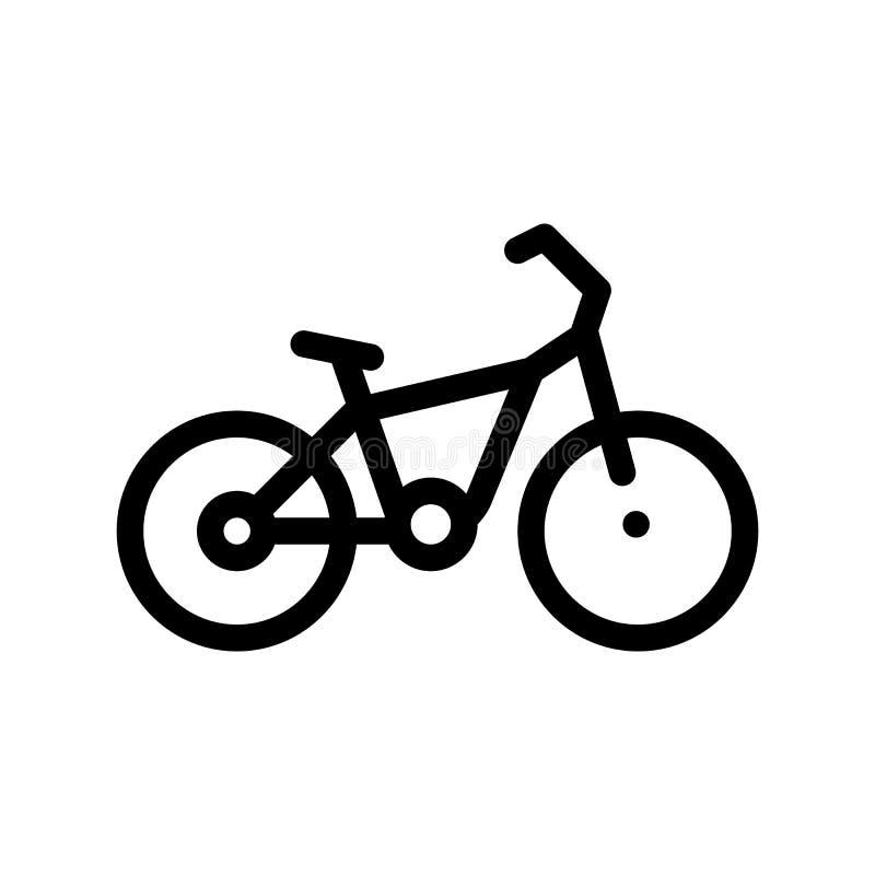 Vector Dun de Lijnpictogram van de openbaar Vervoerfiets vector illustratie