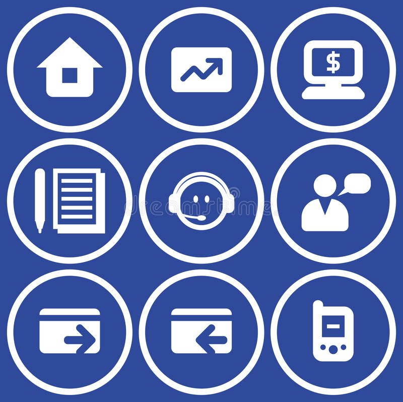 Download Vector E-commerce Icons Set Stock Vector - Image: 9678028