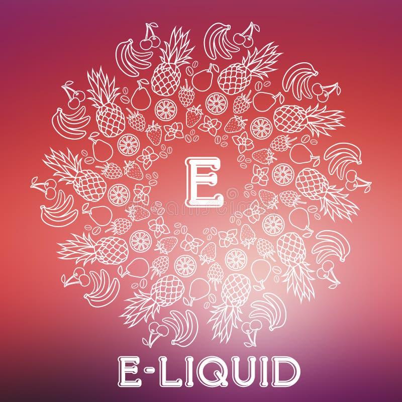 Vector e-Vloeibare illustratie van verschillend aroma royalty-vrije illustratie