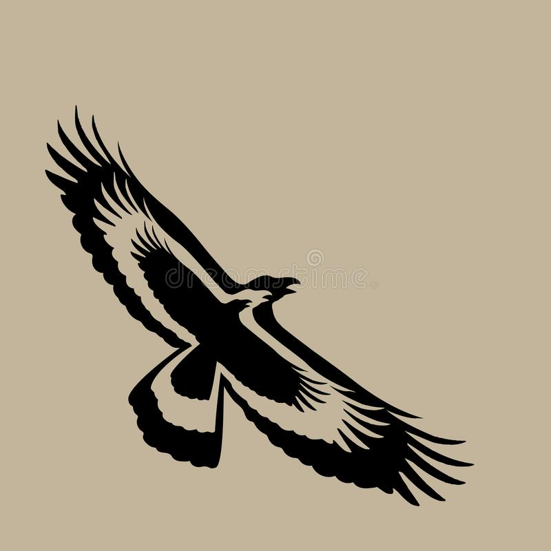 Vector of eagle design on brown background, Wild Animals. royalty free illustration