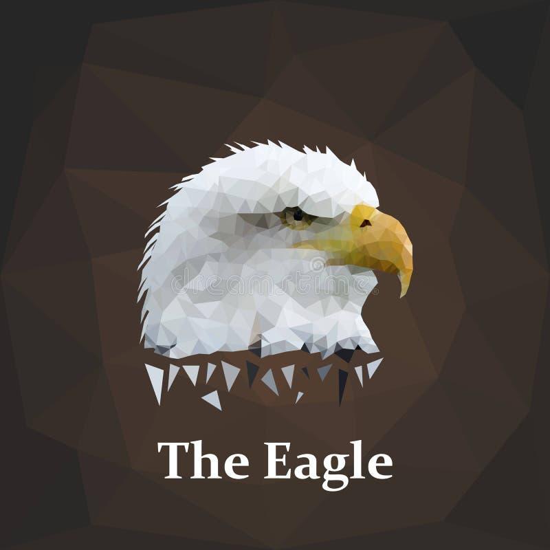 Vector Eagle Head del polígono stock de ilustración