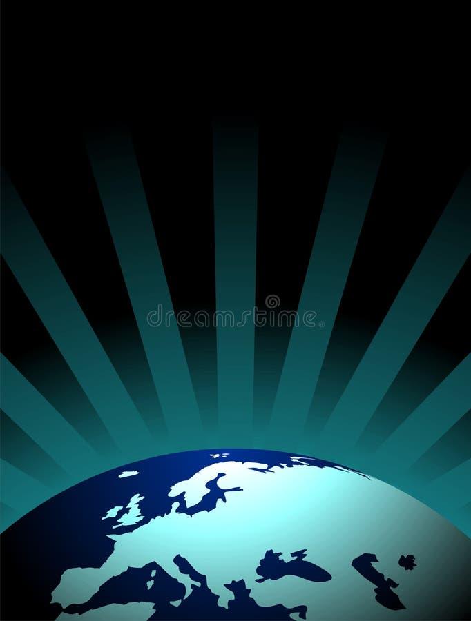 Vector earth illustration. With dark background vector illustration