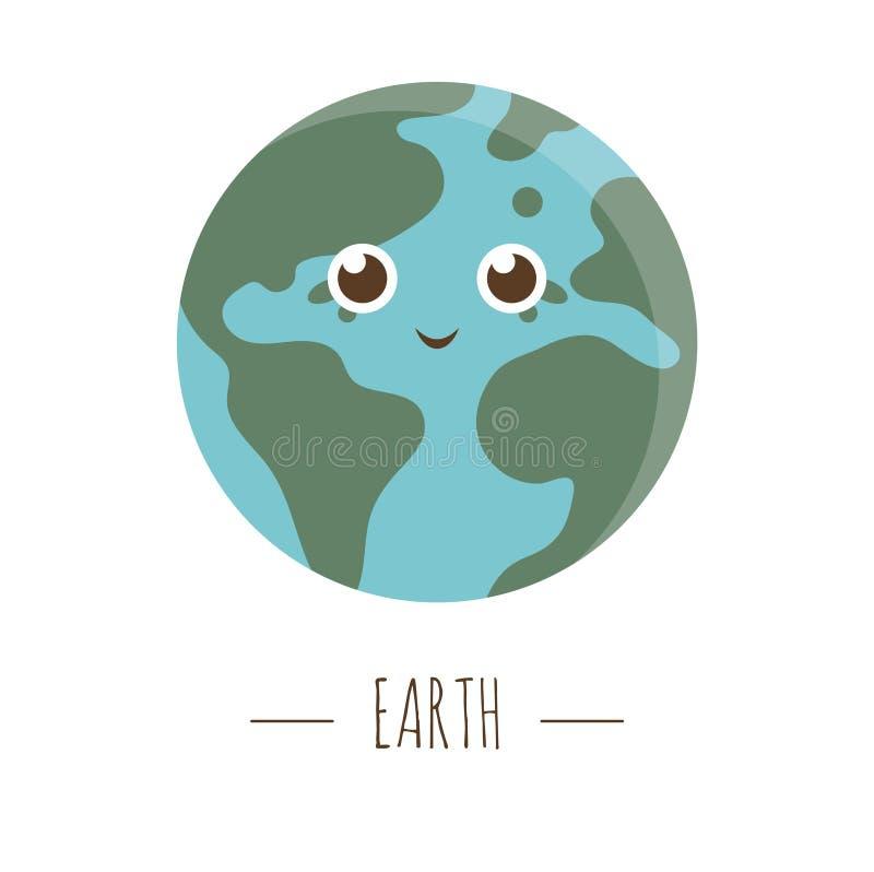 Vector earth illustration for children. stock illustration