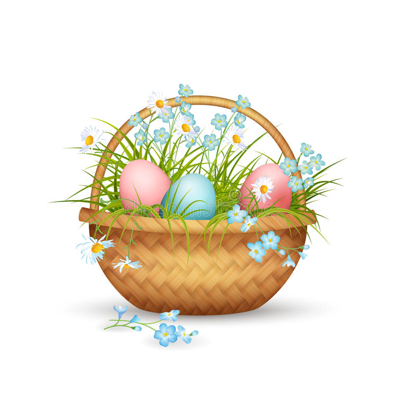 Vector Easter Basket vector illustration