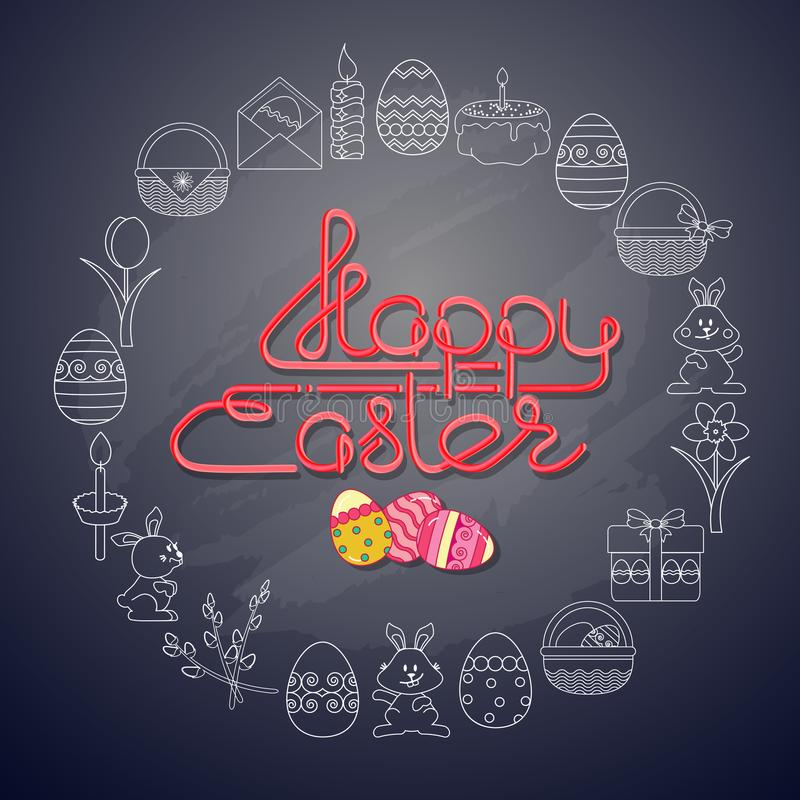 Vector Easter Greeting card. vector illustration