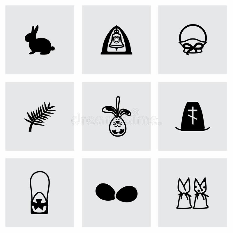 Vector Easter icon set stock illustration