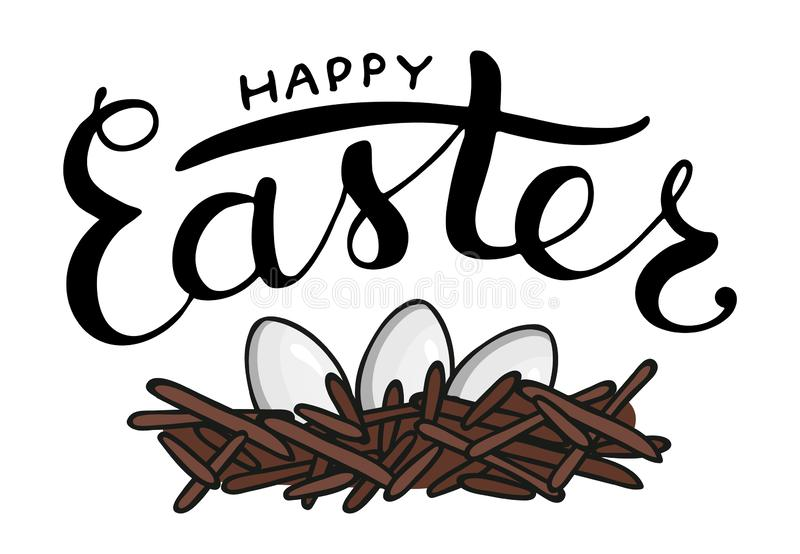 Vector Easter lettering royalty free illustration