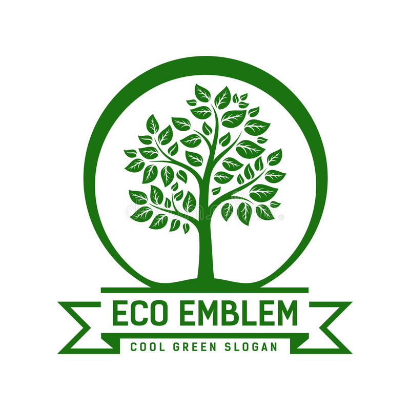 Vector Eco emblem vector illustration