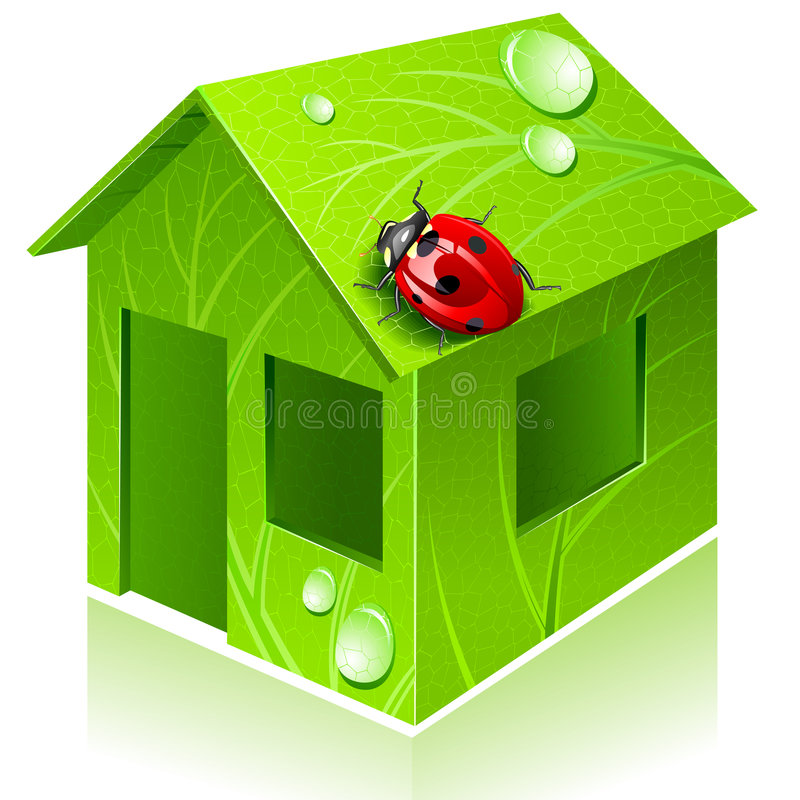Vector eco-house royalty free stock image