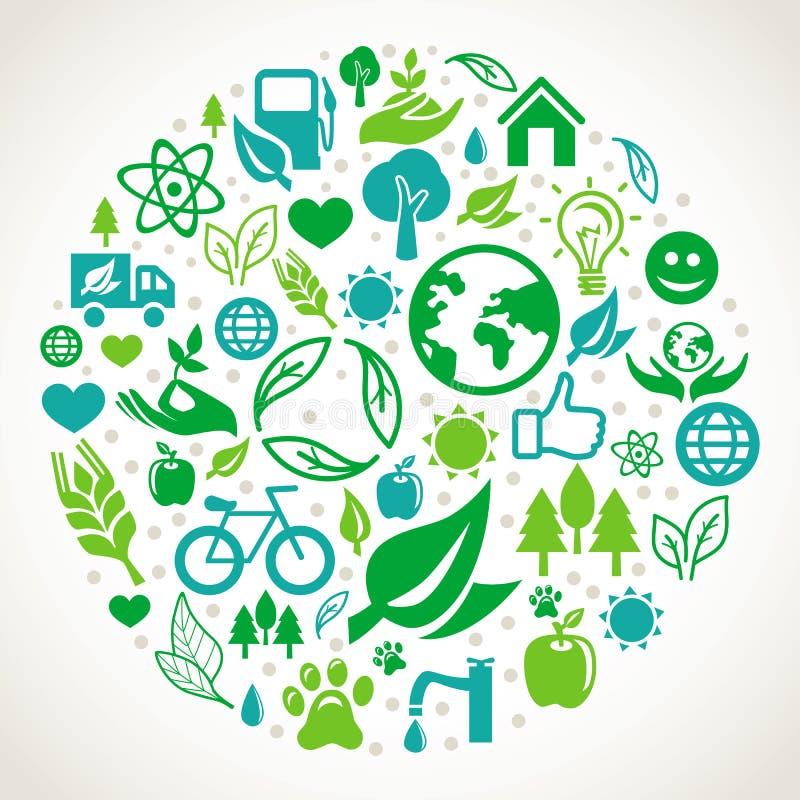 Vector ecologieconcept vector illustratie