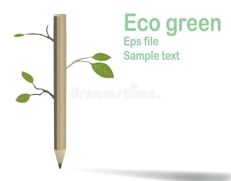 Vector Ecology concept royalty free stock images