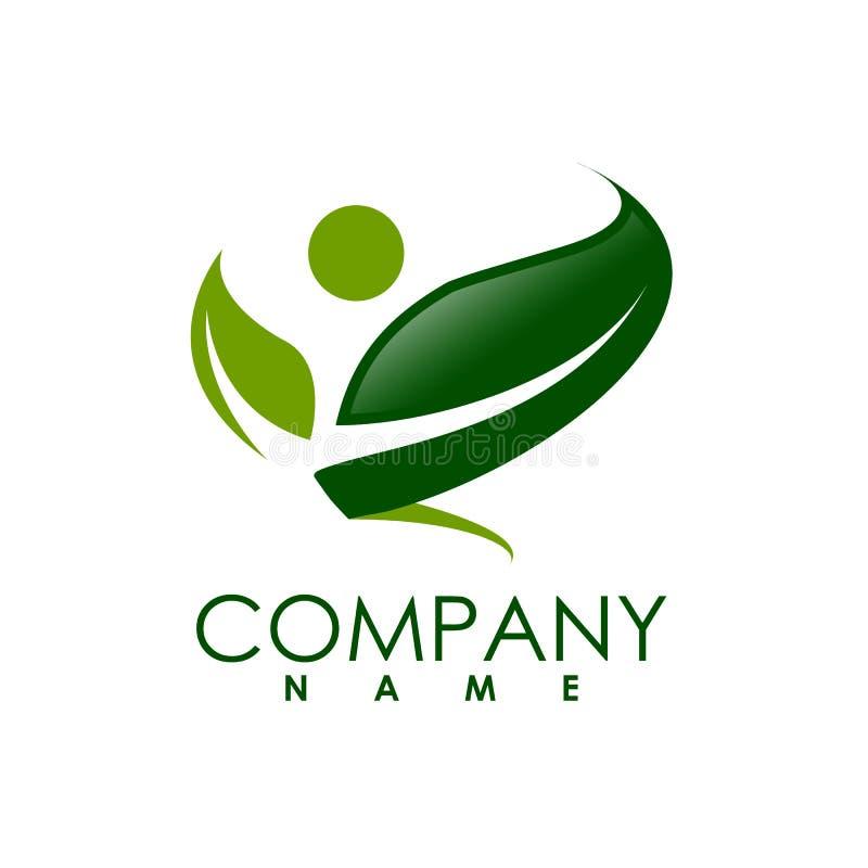 Vector ecology logo concept design and ideas. Ecology concept vector logo. leafs and people green ecology vector logo design idea and concept vector illustration