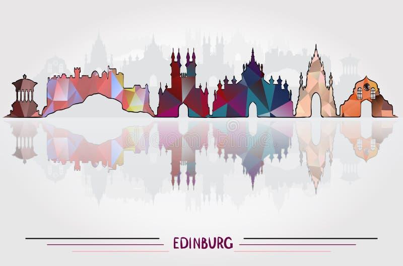 Vector Edinburgh City background royalty free illustration