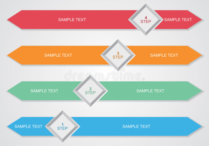 Vector, editable business flow diagram template royalty free illustration