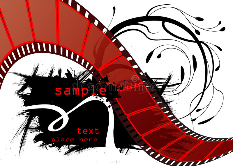 Vector Editable de la película libre illustration