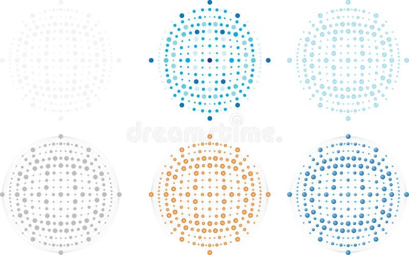 Vector editable orb, punten, vlekken, volledige resizable beeld, embleem en als achtergrond component vector illustratie